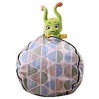 子供のぬいぐるみの柔らかいおもちゃの収納袋の豆の袋完全なストレージ青い三角,32in