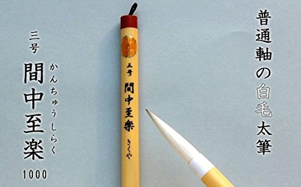 を除く時々文明化する【日本製/書道毛筆】 1000 間中至楽 太筆 白毛