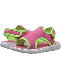 [Polo Ralph Lauren(ポロラルフローレン)] キッズサンダル?靴 Kanyon (Toddler) Pink/Lime Green Stretch/Lime Green Pony Player 7 Toddler...
