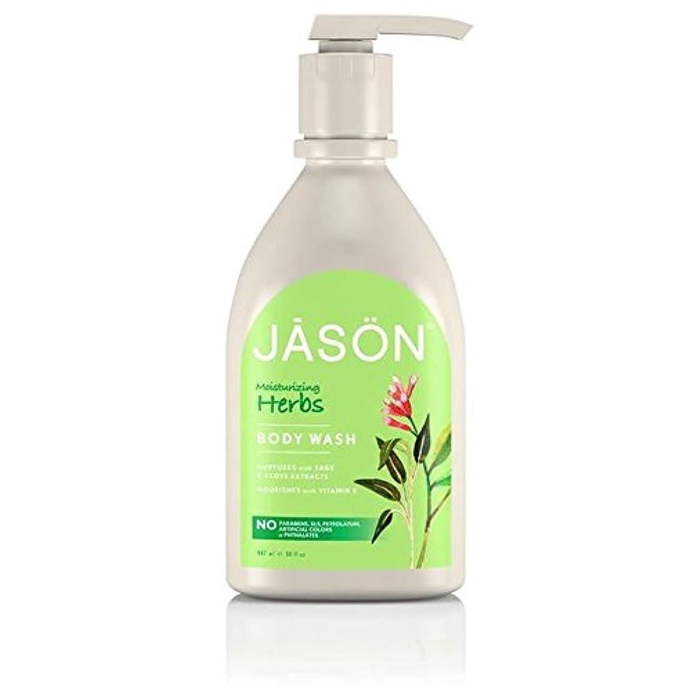 共感する輪郭倍増Jason Herbal Satin Body Wash Pump 900ml (Pack of 6) - ジェイソン?ハーブサテンボディウォッシュポンプ900ミリリットル x6 [並行輸入品]