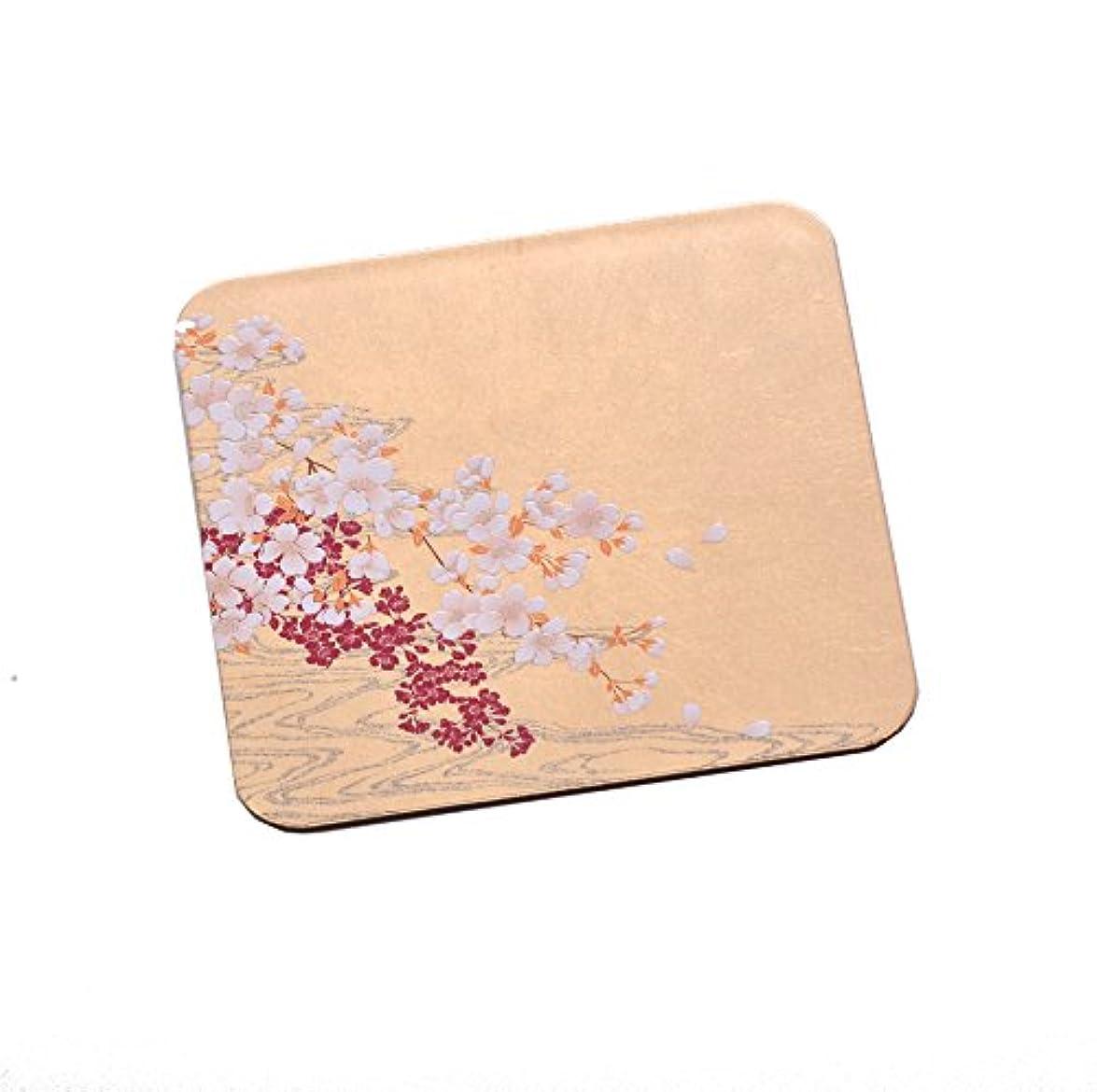 下誤解前兆箔一 コースター ゴールド 95×95mm 桜に流水 箔コースター A181-02001