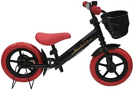 ペダルなし自転車 子供用自転車 ブレーキ付きランニングバイク キッズバイク 子ども用自転車 Airbike (ブラック×レッドver2)