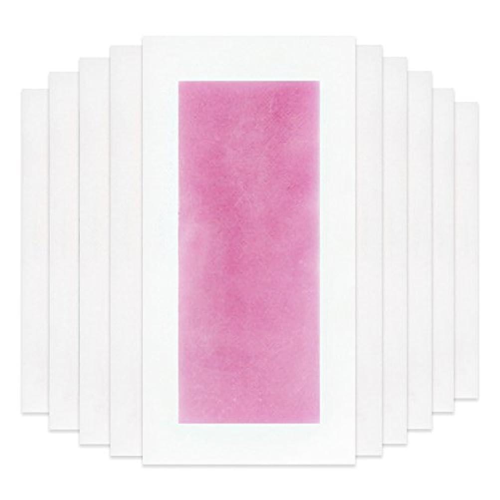 無駄だ眉をひそめるスピンRaiFu 脱毛 コールド ワックス ストリップ 紙 脱毛紙 プロフェッショナル 夏の脱毛 ダブル サイド ボディ除毛 10個 ピンク