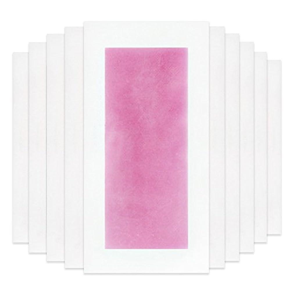 キネマティクス悪性パーツRabugoo セクシー 脚の身体の顔のための10個のプロフェッショナルな夏の脱毛ダブルサイドコールドワックスストリップ紙 Pink