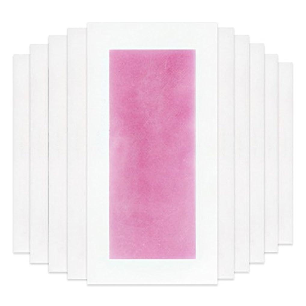 ぶら下がる見落とす増強Rabugoo セクシー 脚の身体の顔のための10個のプロフェッショナルな夏の脱毛ダブルサイドコールドワックスストリップ紙 Pink