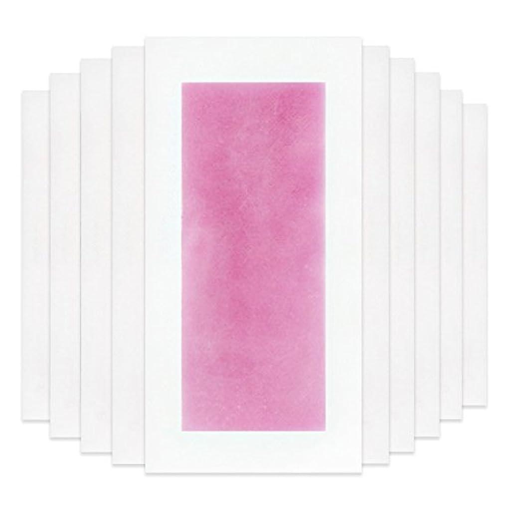 明日ストリーム肘Rabugoo セクシー 脚の身体の顔のための10個のプロフェッショナルな夏の脱毛ダブルサイドコールドワックスストリップ紙 Pink