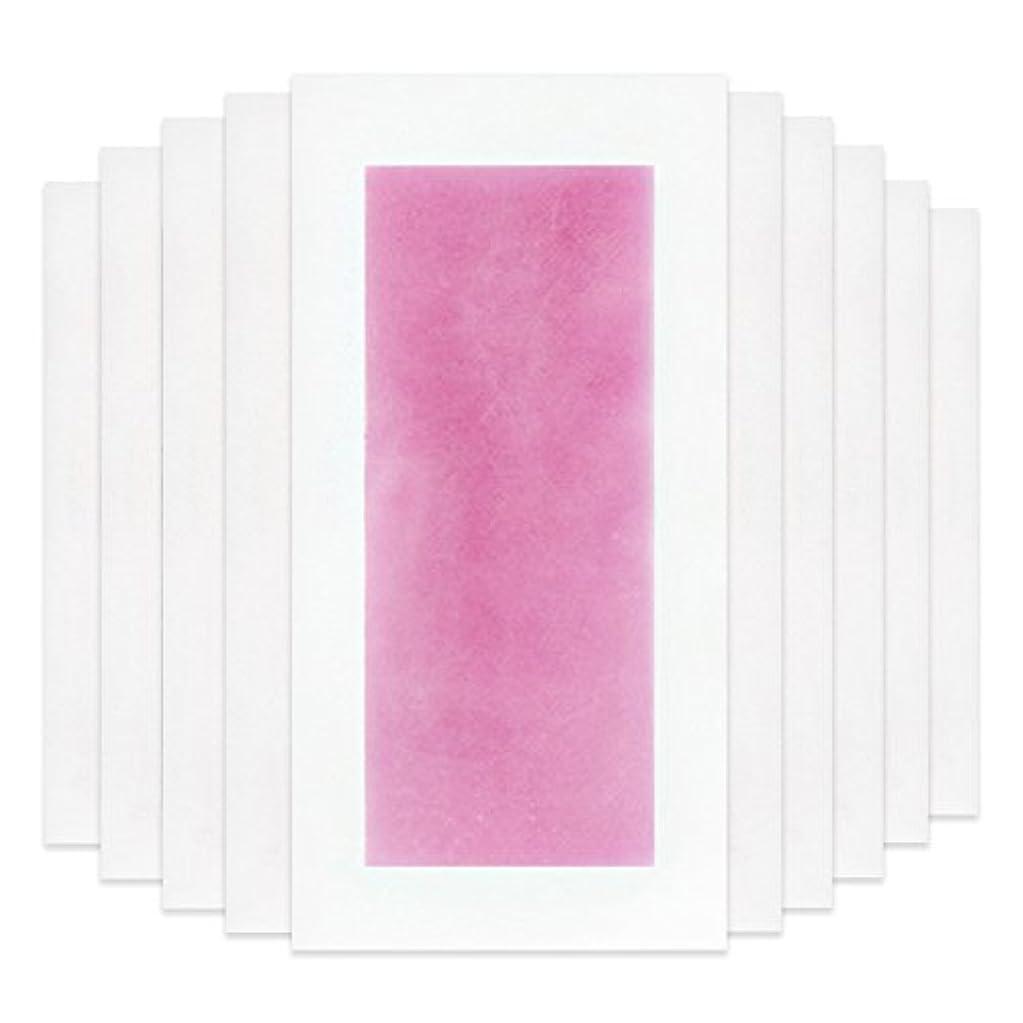 問題叫ぶエイリアンRabugoo セクシー 脚の身体の顔のための10個のプロフェッショナルな夏の脱毛ダブルサイドコールドワックスストリップ紙 Pink