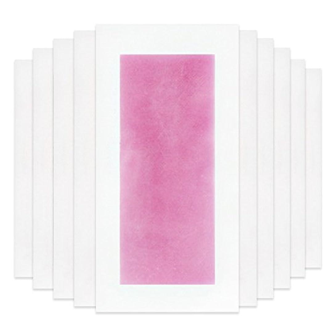 実行コモランマ踏み台RaiFu 脱毛 コールド ワックス ストリップ 紙 脱毛紙 プロフェッショナル 夏の脱毛 ダブル サイド ボディ除毛 10個 ピンク