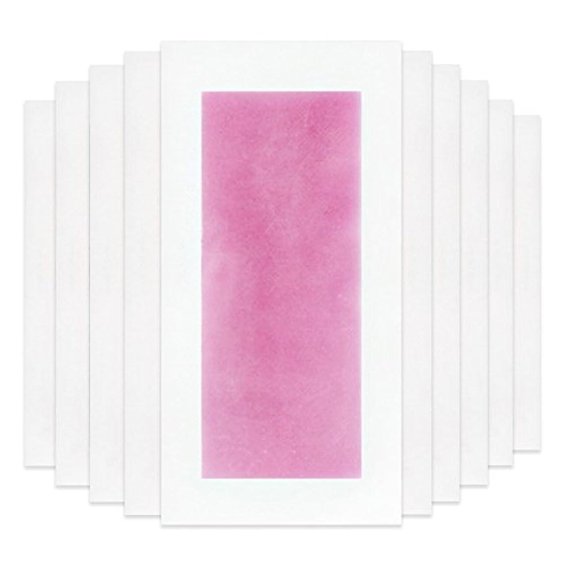 通信する日記ブレスRaiFu 脱毛 コールド ワックス ストリップ 紙 脱毛紙 プロフェッショナル 夏の脱毛 ダブル サイド ボディ除毛 10個 ピンク
