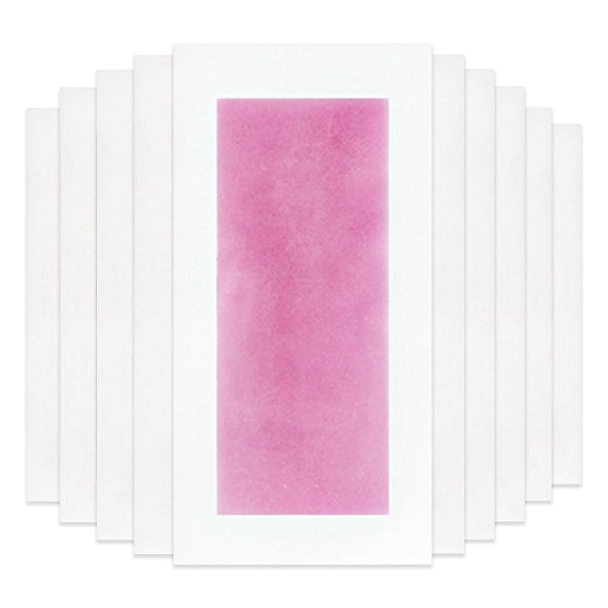 内陸参加するジョージエリオットRabugoo セクシー 脚の身体の顔のための10個のプロフェッショナルな夏の脱毛ダブルサイドコールドワックスストリップ紙 Pink