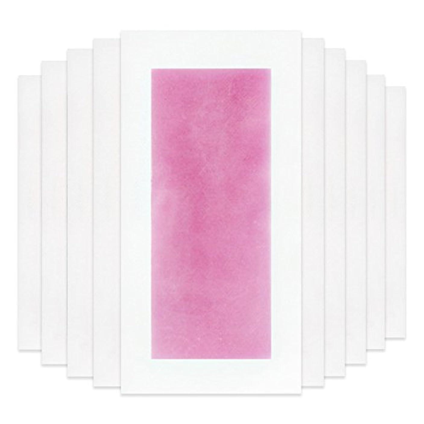 コンパクトナチュラル役立つRabugoo セクシー 脚の身体の顔のための10個のプロフェッショナルな夏の脱毛ダブルサイドコールドワックスストリップ紙 Pink