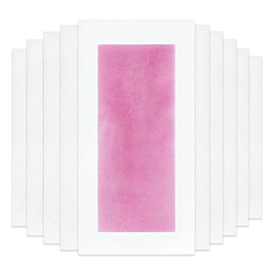 ママリーチ活力Rabugoo セクシー 脚の身体の顔のための10個のプロフェッショナルな夏の脱毛ダブルサイドコールドワックスストリップ紙 Pink