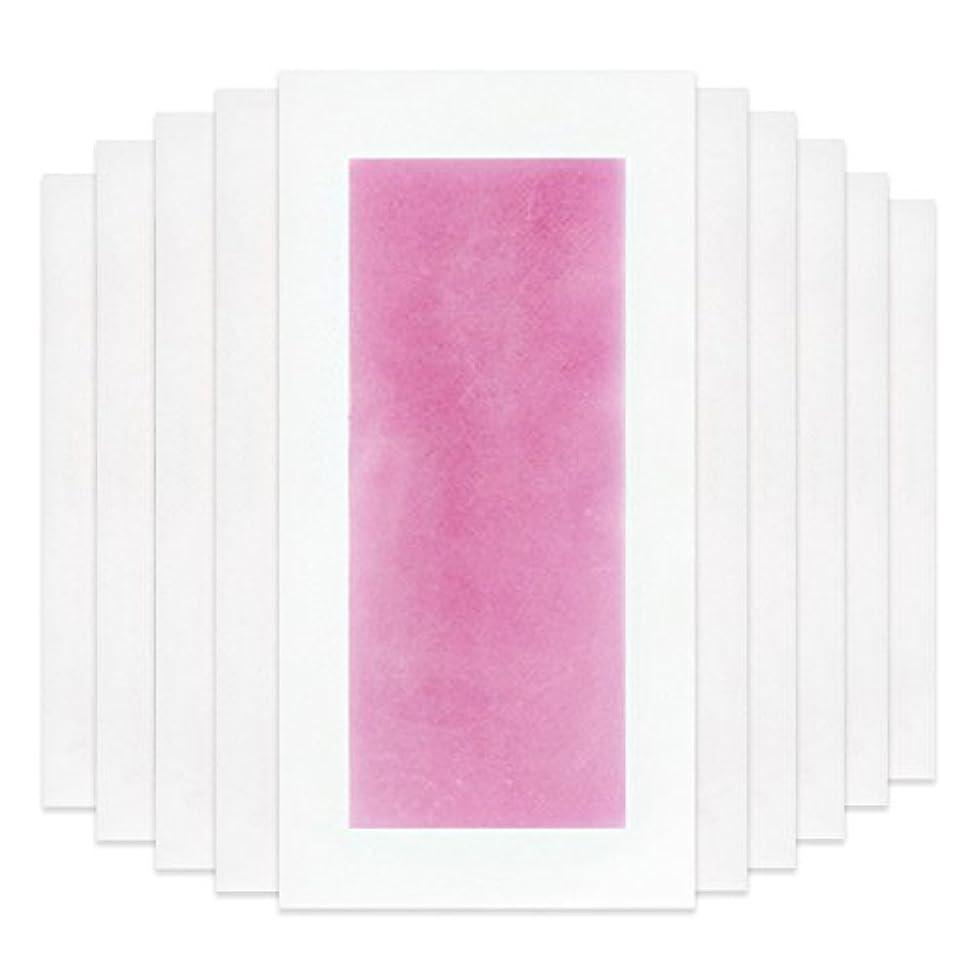 弱まるロマンスコミットRabugoo セクシー 脚の身体の顔のための10個のプロフェッショナルな夏の脱毛ダブルサイドコールドワックスストリップ紙 Pink