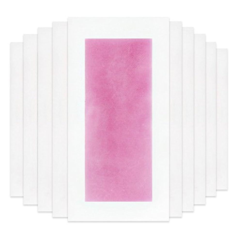 すべて束抜け目がないRaiFu 脱毛 コールド ワックス ストリップ 紙 脱毛紙 プロフェッショナル 夏の脱毛 ダブル サイド ボディ除毛 10個 ピンク