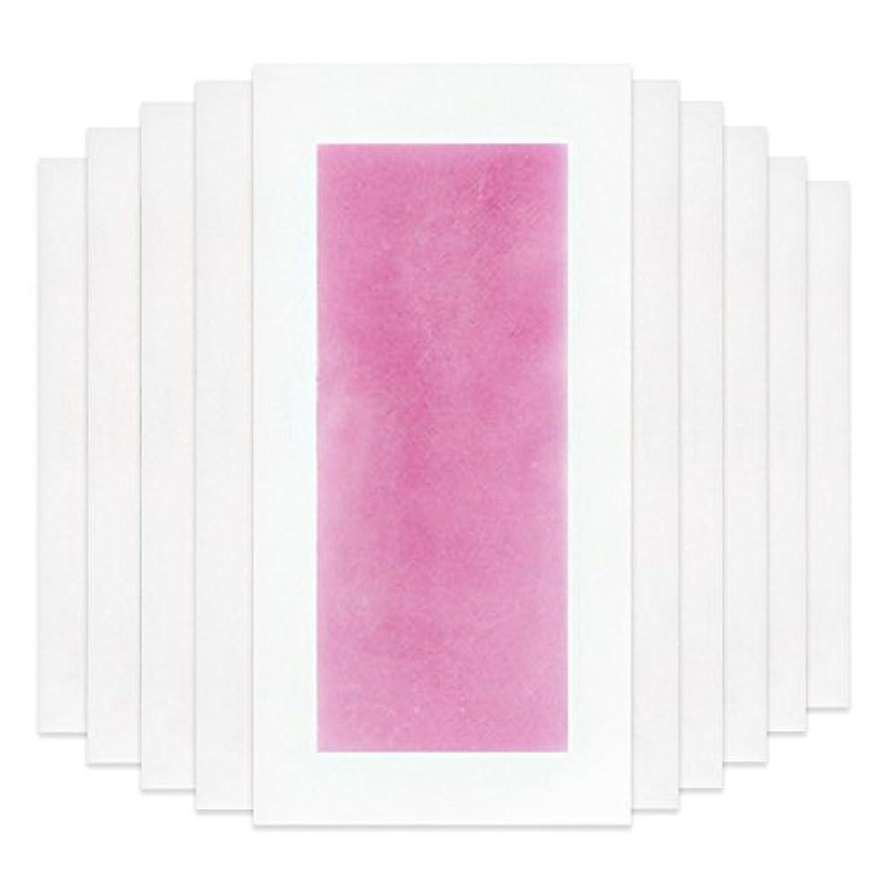 襟決定的ベンチャーRaiFu 脱毛 コールド ワックス ストリップ 紙 脱毛紙 プロフェッショナル 夏の脱毛 ダブル サイド ボディ除毛 10個 ピンク