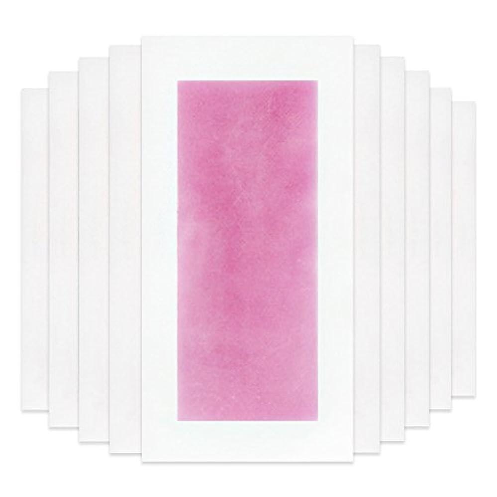 言う荒涼とした慢性的RaiFu 脱毛 コールド ワックス ストリップ 紙 脱毛紙 プロフェッショナル 夏の脱毛 ダブル サイド ボディ除毛 10個 ピンク