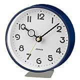 MAG(マグ) 置き時計 アナログ フックプット 直径約12.7cm 連続秒針 置き掛け兼用 ネイビー W-752NB-Z