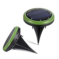 Solar Ground Lights Upgraded,8 LED Warm White Garden Pathway Outdoor in-Ground Lights,Waterproof Dark Sensing Auto On/Off Lawn Garden Patio Yard Driveway Walkway Pool Area (2 Pack) [並行輸入品]