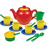 Kidzlane Play Tea Set, 15+ Durable Plastic Pieces, Safe and BPA Free for Childrens Tea Party and Fun