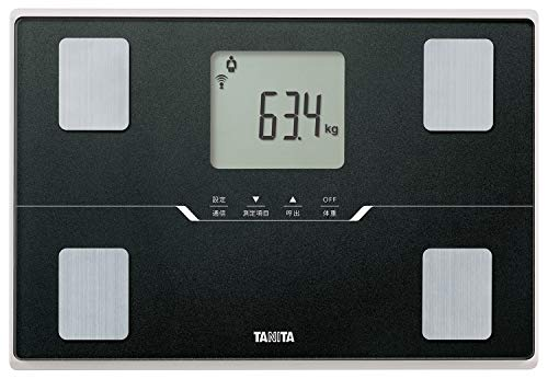 タニタ 体重 体組成計 ブラック BC-768 BK スマホでデータ管理 立てかけ収納OK -