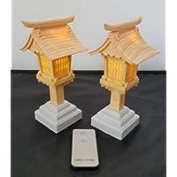Lupo(ルポ) リモコン付き LED 神前灯籠 木目調 6号