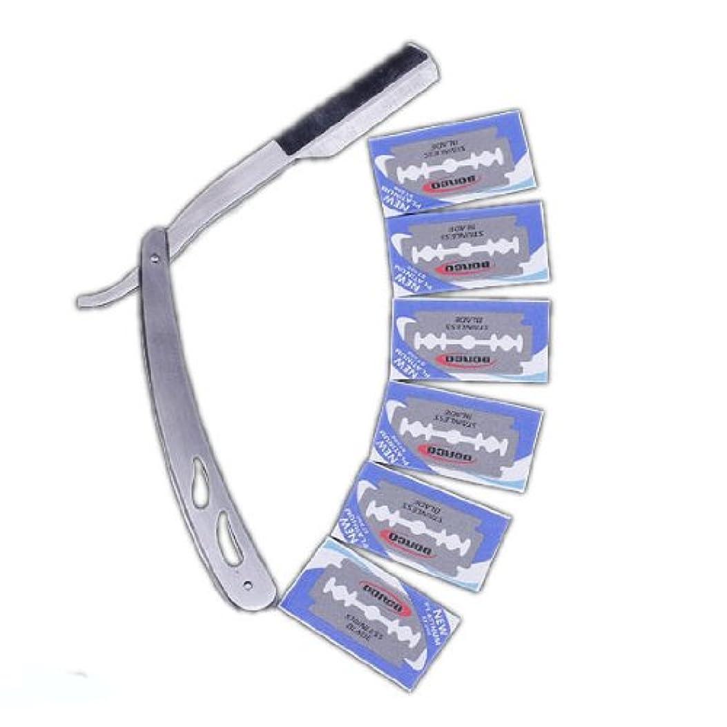 歯お香魅力EOZY 折りたたみ ステンレス 両面 74 かみそり+ 替刃 10枚入り プロフェッショナル カミソリ
