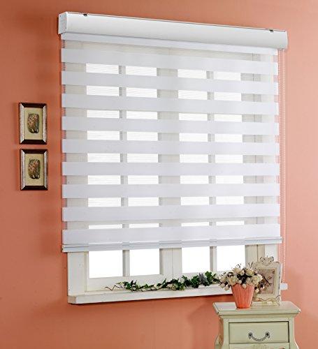 サイズ オーダーメイド , [Winsharp Basic , white , W 150 x H 180 (CM)] 調光ロールアップ スクリーン 窓 プリーツ ブラインド & カーテン 簾