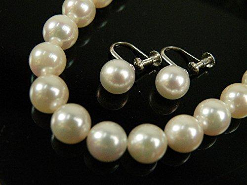 最高品質 花珠 和珠 真珠 パールネックレス&イヤリング 2点セット 7.0~7.5mm