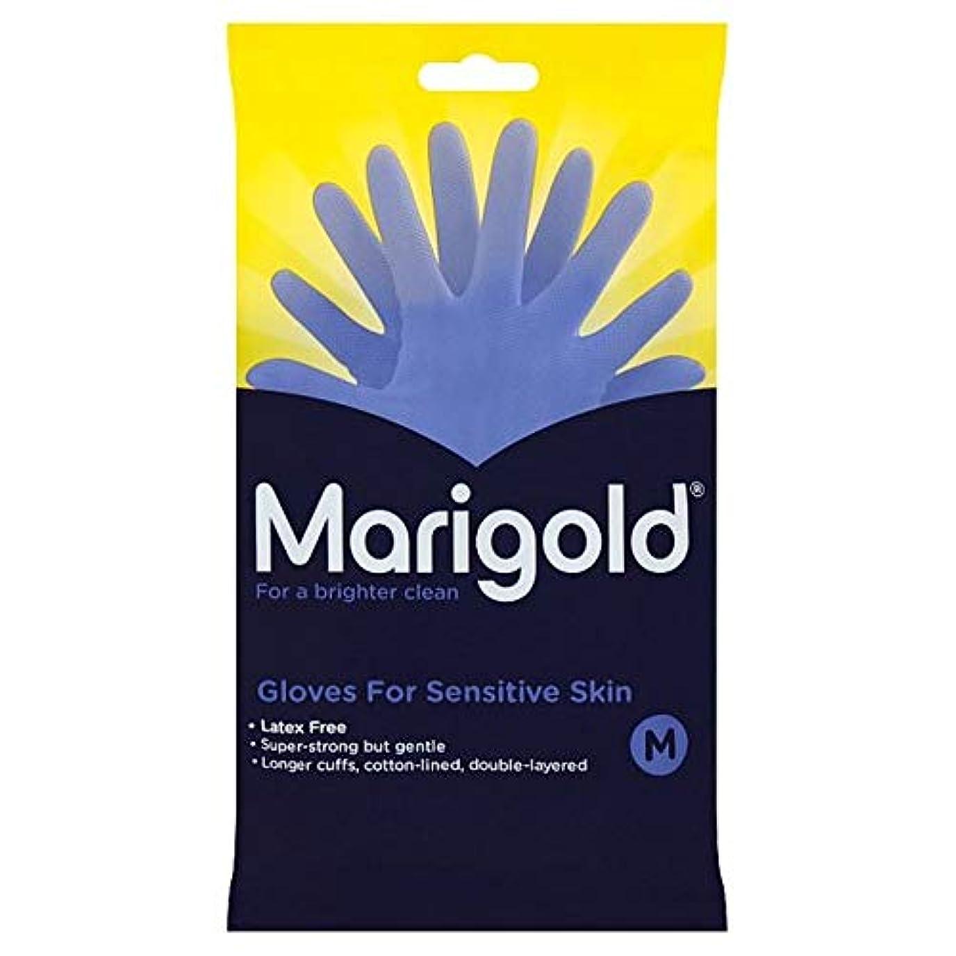 抵抗力があるスマッシュ同一性[Marigold] マリーゴールド敏感手袋媒体1ペア - Marigold Sensitive Gloves Medium 1 Pair [並行輸入品]