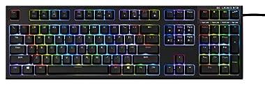 東プレ REALFORCE RGB US 108キーUSB英語配列 1680万色バックライト機能/ON位置3段階調節機能搭載 ALL45g ブラック AEAX01