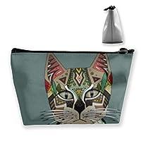 ピクシーボブ子猫 収納ポーチ 化粧ポーチ トラベルポーチ 小物入れ 小財布 防水 大容量 旅行 おしゃれ