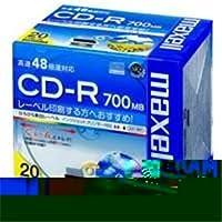 (業務用5セット)日立マクセル HITACHI CD-R <700MB> CDR700S.WP.S1P20S 20枚