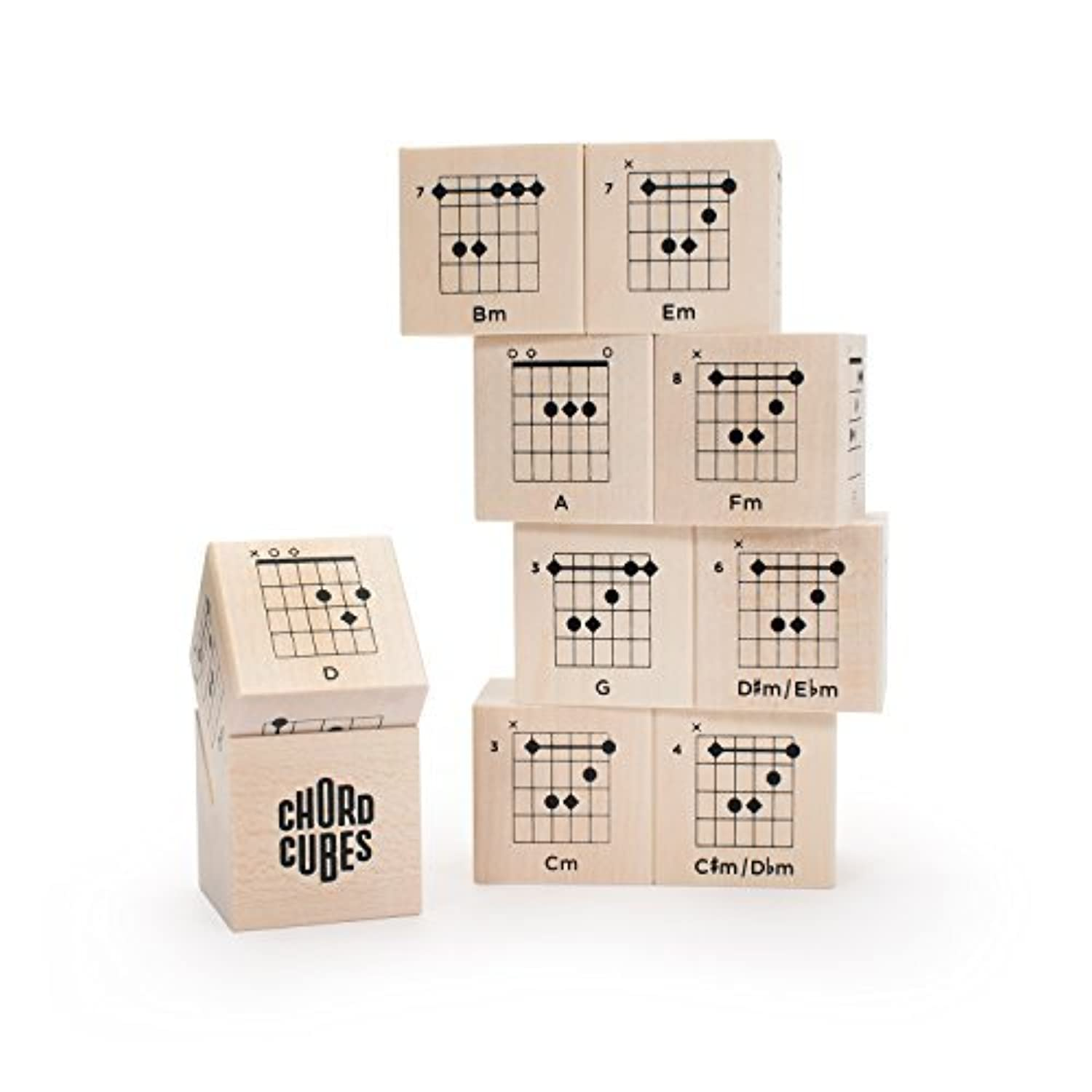 Uncle Goose Chord Cubes Guitar Blocks - Made in USA [並行輸入品]