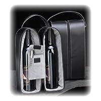 Bey-Berk Leather Wine Bottle Carrier Caddy Travel Tote Bag & Tool SetBlack 【Creative Arts】 [並行輸入品]