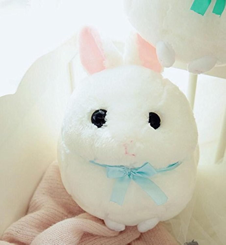 HuaQingPiJu-JP シミュレーションウサギぬいぐるみぬいぐるみウサギぬいぐるみキッズ用動物玩具(白、30cmの高さ)