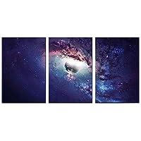 うずき 現代のストレッチと額入り星空キャンバスプリント抽象絵画スター写真キャンバスの壁アートの寝室用 装飾画 A (Color : E, Size : 60x90cmx3pcs)