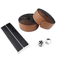 スポーツ用品 EVAロードバイクハンドルバーテープバーラップ2PCS スポーツアクセサリー (色 : 褐色)