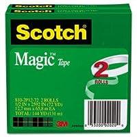 "Wholesale CASE of 15–3M Scotch Invisible Magic tape-magicテープ、3""コア、1/ 2"" x2592、"" 2/ PK,透明"
