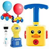 Balloon Powered Car and Launcher Set, Creative Balloon Power Racer Air Inertial Car Toy Balloon Launch Toy Launch Pad with 12