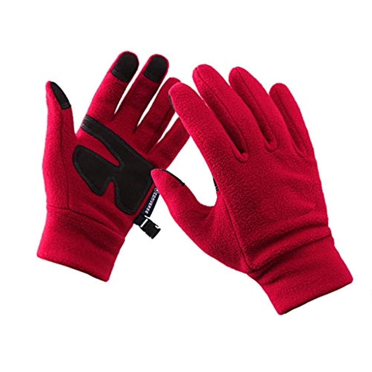 名前氏偽善手袋ミトン、秋冬の男性と女性の屋外ベルベット登山ハイキングサイクリングタッチスクリーンウォーム手袋を実行する(ユニセックス)