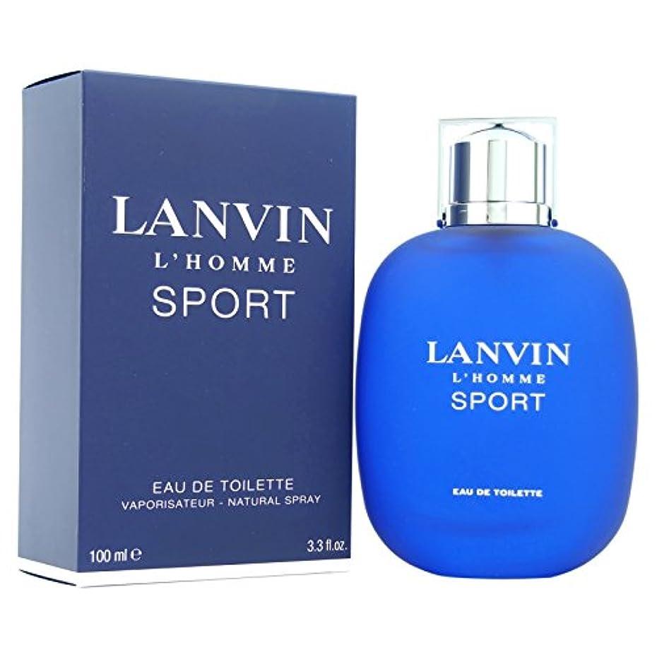 信頼性乳剤退屈させるランバン[LANVIN]オムスポーツ100mlオードトワレスプレー