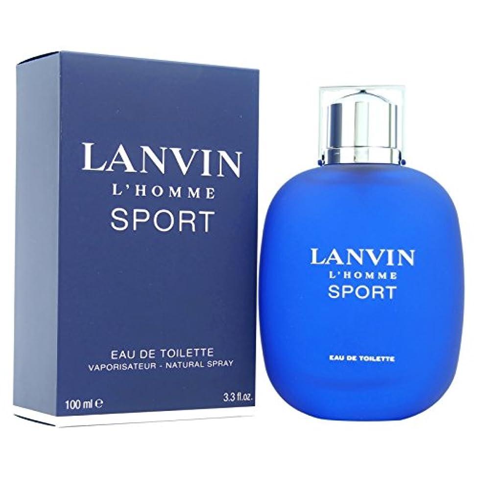 タバコ証明する弱いランバン[LANVIN]オムスポーツ100mlオードトワレスプレー