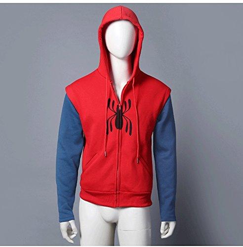 ホームカミング 蜘蛛ロゴ パーカー コスプレ 衣装(X-large)