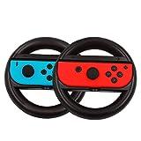 Altavida for Joy-Con Nintendo Switchハンドル 2個セット ニンテンドースイッチ 任天堂スイッチ対応 ドライブ感 敏感操作 着脱簡単 (ブラック)