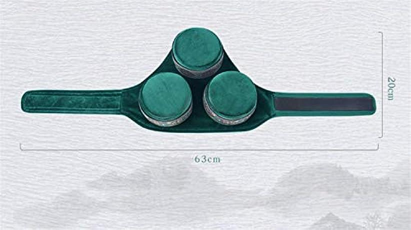 急流候補者無効灸3銅ポータブル刺繍無煙よもぎ加熱海塩モクサボックスラウンドシェイプバーナーセットx masホームオフィスギフト(63 * 20センチ)