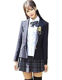 9a71361536002 Kayaa 卒業式 スーツ 女の子 子供スーツ フォーマル 正統派ガールズ スカートスーツ 5点セット ジャケット スカート ブラウス ネクタイ リボン  ジュニア 女児…