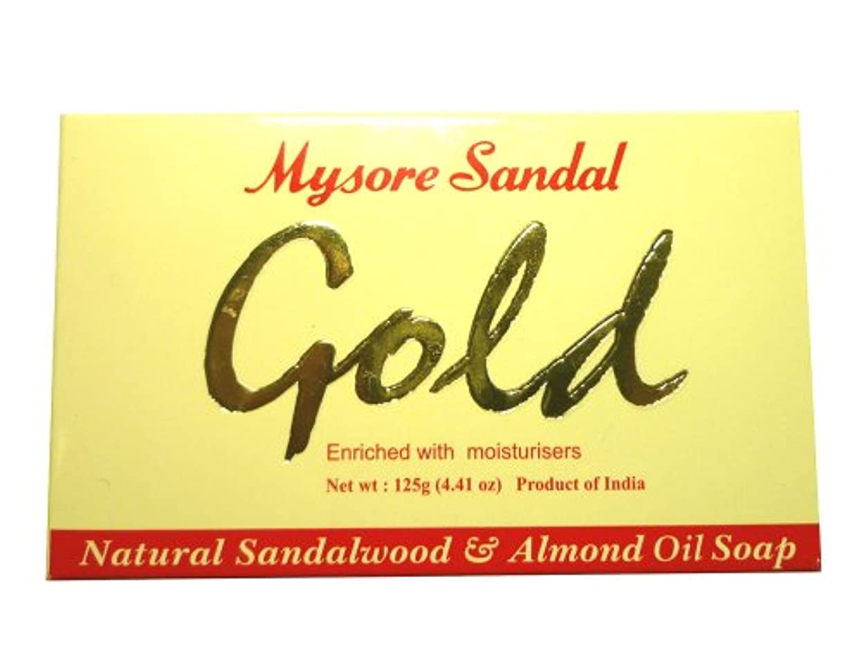 ずんぐりしたジェスチャー光高純度白檀油配合 マイソール サンダルゴールドソープ