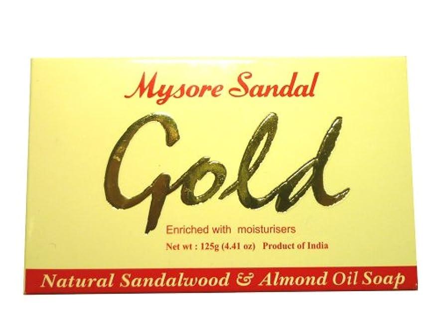 個人的に平らにする取り壊す高純度白檀油配合 マイソール サンダルゴールドソープ
