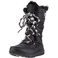 Sorel Women's Whitney Tall Lace Snow Boot, Black, sea Salt, 7 M US