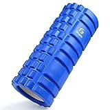 フォームローラー 筋膜リリース KOOLSEN グリッドフォームローラー ヨガポール トレーニング スポーツ フィットネス ストレッチ器具 (青)